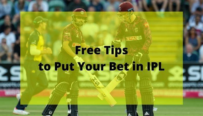 Free Tips in IPL betting